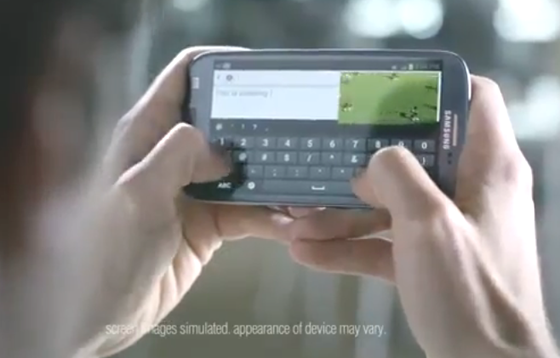 Screenshot of Samsung commercial